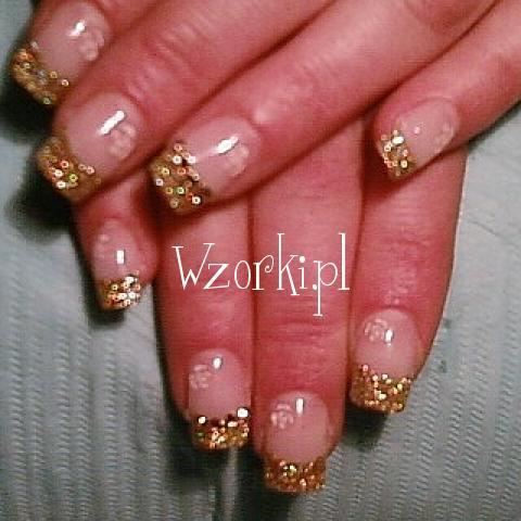 złoty holo brokat :)+ dodatki