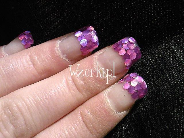 rozowo-fioletowe plastry miodu