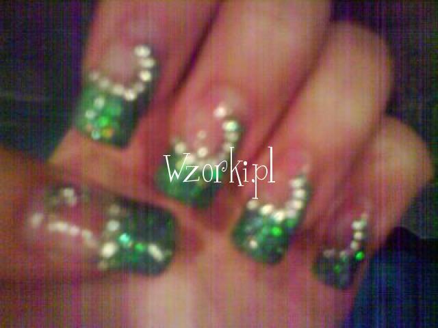 Zelowe - zielony z cyrkoniami