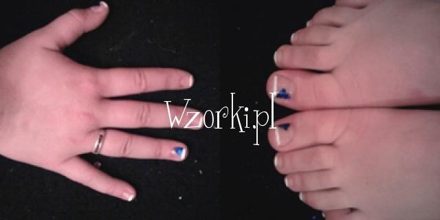 french + niebieskie hologramy.