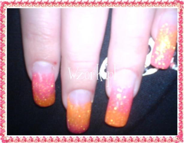 pomarańczowy i różowy brakat