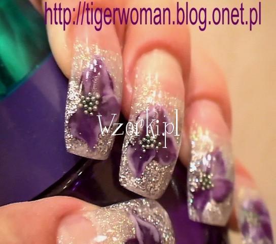 fioletowe akrylki