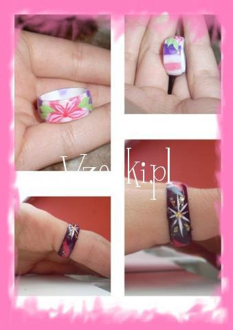 pierścionki z akrylu:)