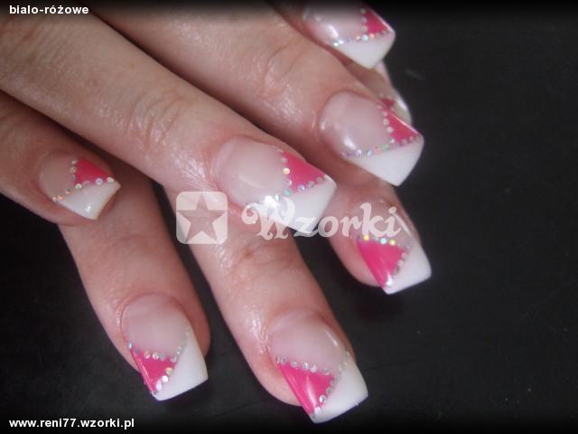 bialo-różowe
