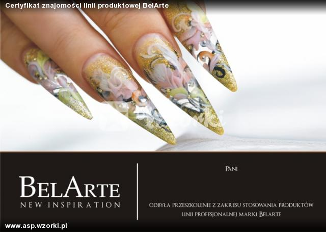 Certyfikat znajomości linii produktowej BelArte
