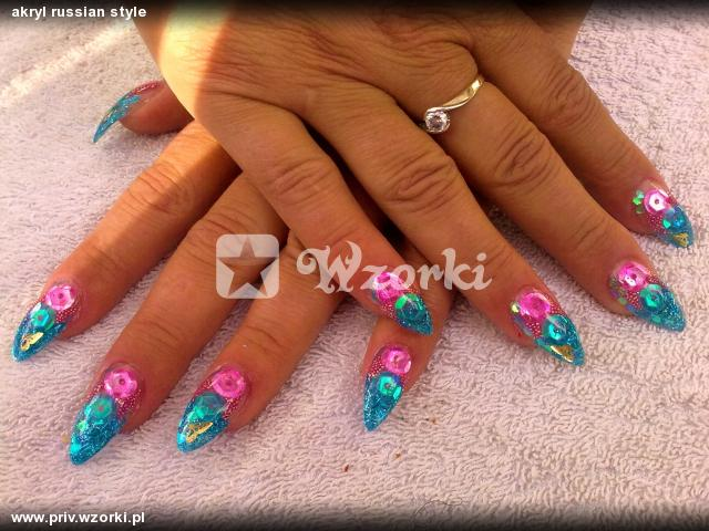 akryl russian style