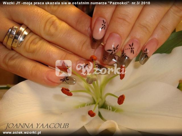 """Wazki JY -moja praca ukazala sie w ostatnim numerze """"Paznokci""""  nr.3/ 2010"""