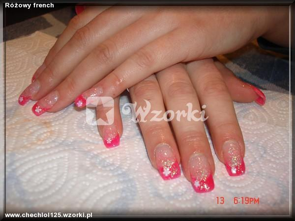 Różowy french