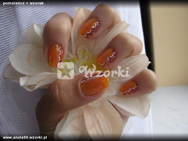 pomarańcz + wzorek
