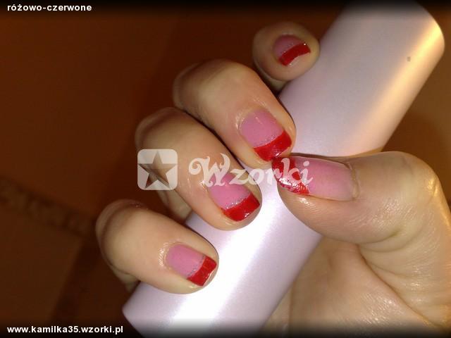 różowo-czerwone