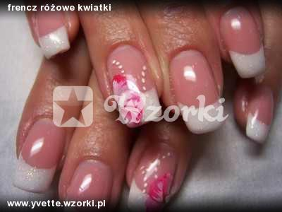 frencz różowe kwiatki
