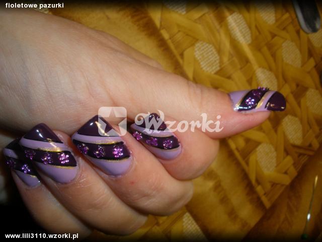 fioletowe pazurki