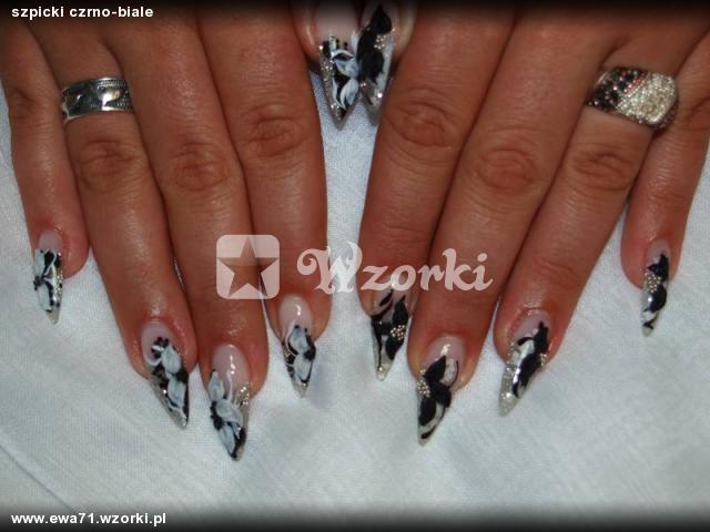 szpicki czrno-biale